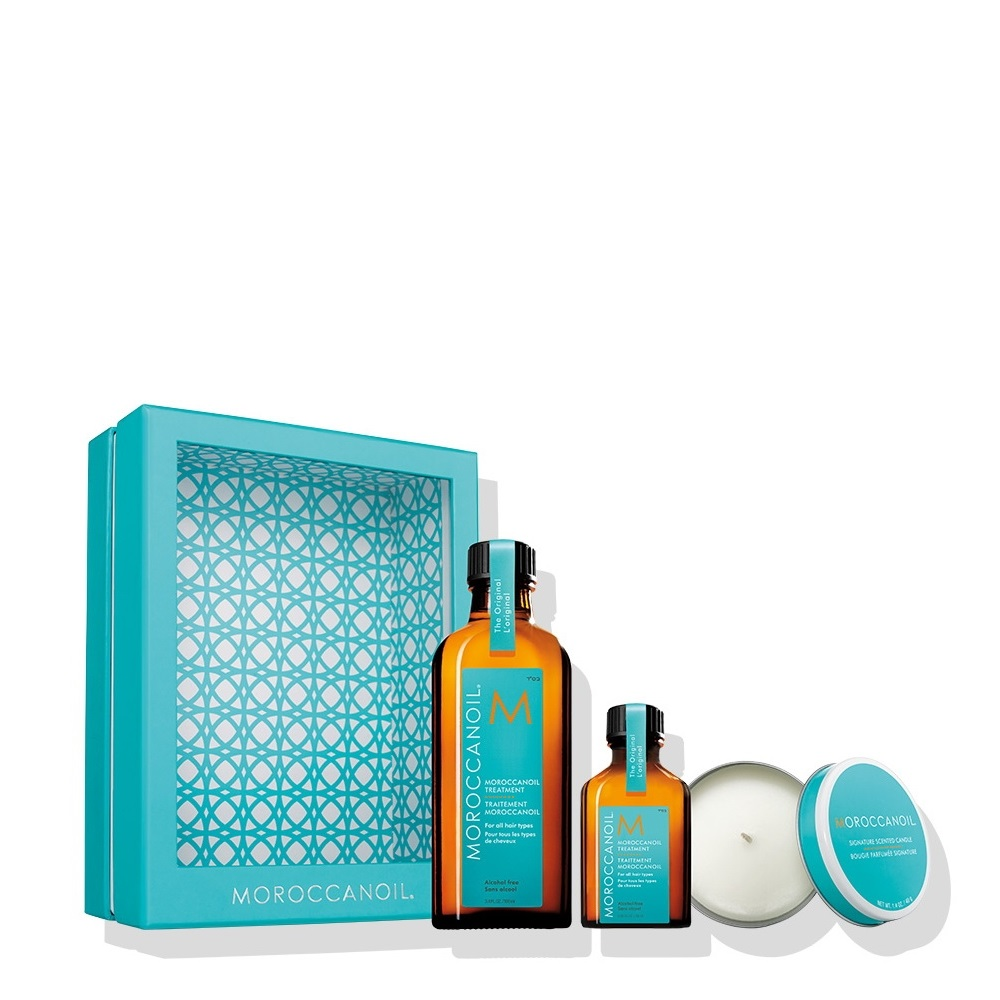Moroccanoil Treatment – Home   Away Set with Candle (Treatment 100ml ... e1cdffd69ef